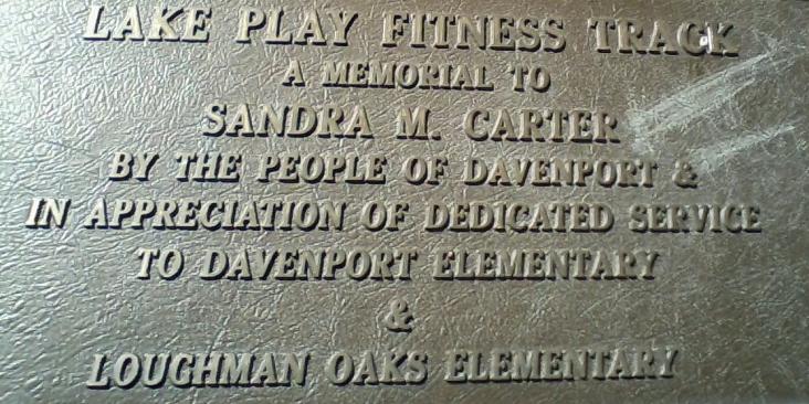 Fitness plaque.