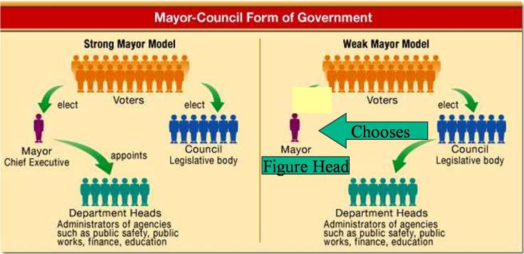 mayor-council chart