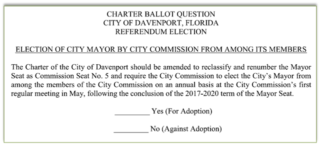 ordinance 881 ballot question